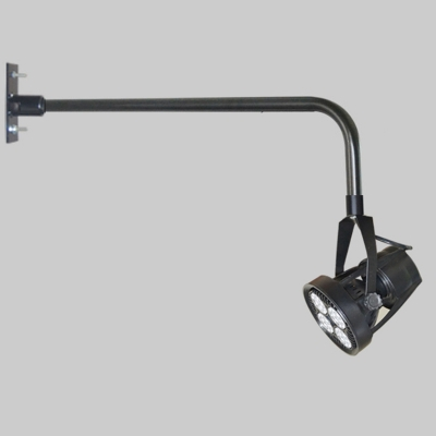 Industrial Wall Sconce with Metal Shade, Black