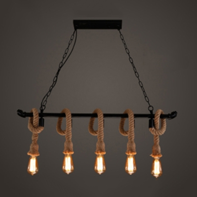 industrial vintage multi light pendant light in wrought iron and