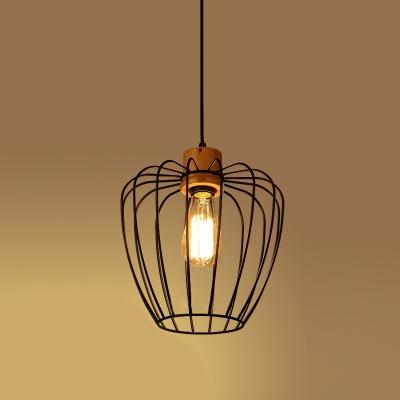 Vintage Pendant Light with Lantern Shape Shade, Black HL449347 фото