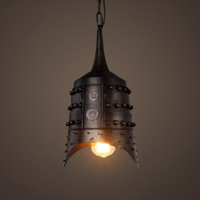 Industrial Rustic Pendant Light Single Light in Bell Shape