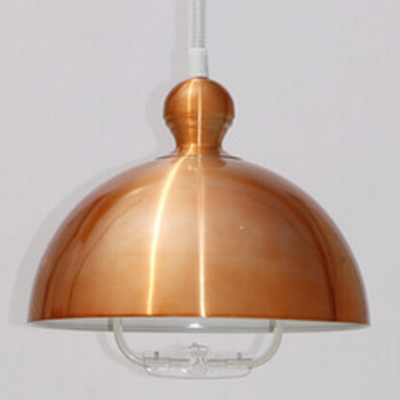 Industrial Extendable Hanging Lamp with Extendable Chain In Dome Shape, Multi Color Options