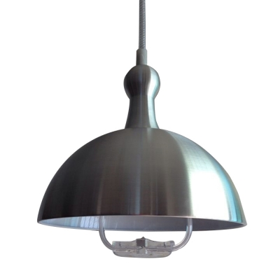 Industrial Extendable Pendant Light with Dome Shade, Multi Color Options