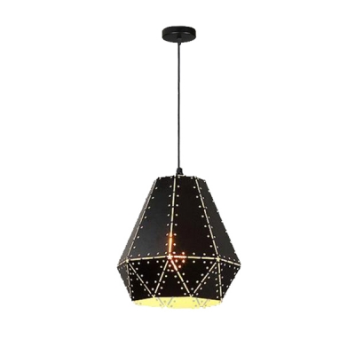Industrial Rustic Style Single Light Vintage Black Pendant for Bars