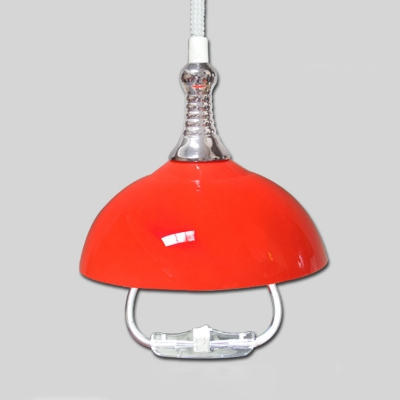 Industrial Extendable Hanging Lamp with Extendable Chain In Dome Shape, Multi Color Single Light