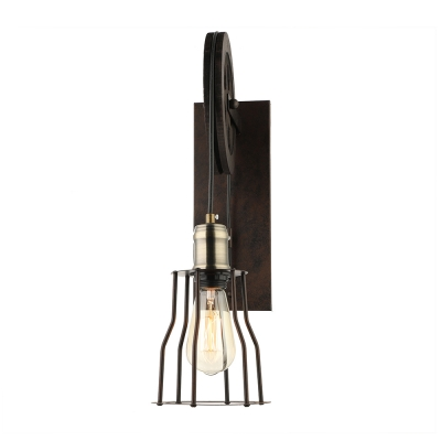 Vintage Wall Sconce with Extendable Arm, Black
