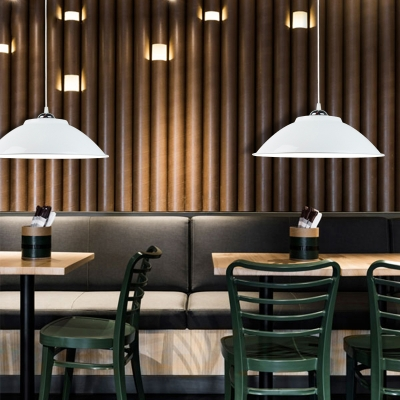 """Industrial Simple Pendant Light with /14""""W Dome Metal Shade, HL452761, Black;blue;green;orange;red;white;yellow"""
