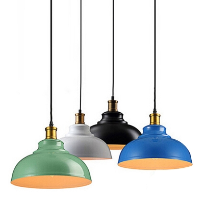 Industrial Pendant Light with 11.81''W Metal Shade in Barn Style
