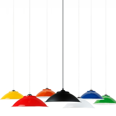 Industrial Simple Pendant Light with 13.78''W Dome Metal Shade