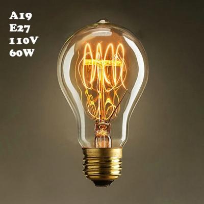 Edison Globe  Bulb A19 110V  E27 60W