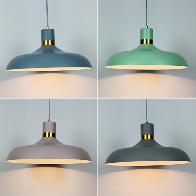 Vintage Pendant Light with 14.96''W Warehouse Metal Shade