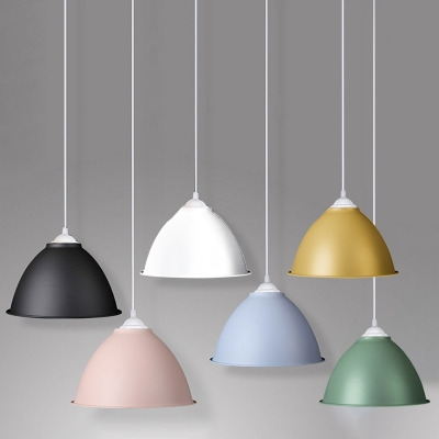 Industrial Pendant Light in Nordic Style Indoor with 11.81''W Dome Shade