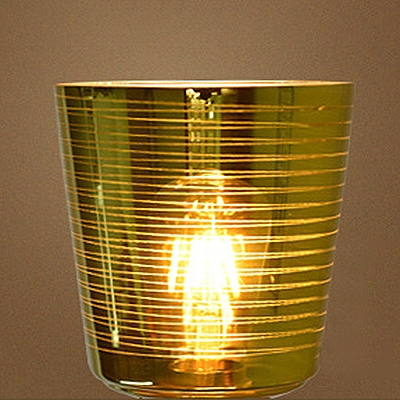Industrial Pendant Light with 6.1''W Glass Shade, Yellow