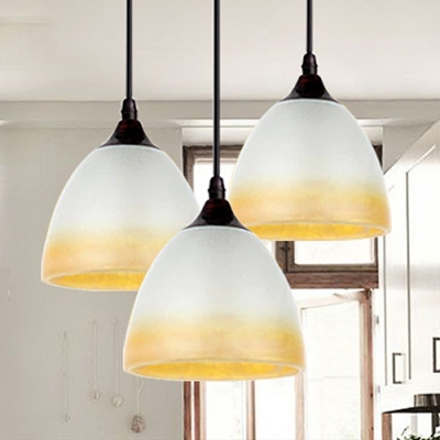 Industrial Pendant Light in Nordic Style with White Glass Shade