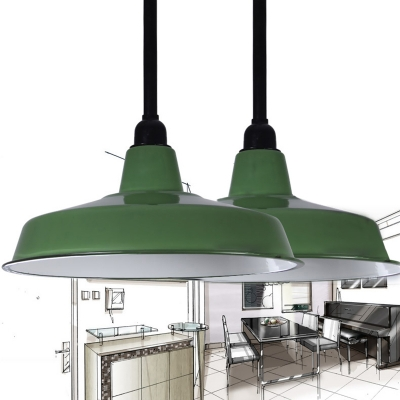 Industrial Pendant Light in Barn Style with 13.78