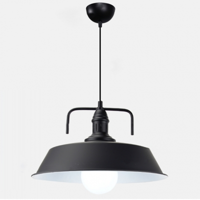 Industrial Pendant Light in Warehouse Style with 17.72''W Metal Shade