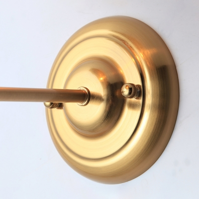 Industrial Wall Sconce with Bowl Metal Shade in Nordical Style, Gold