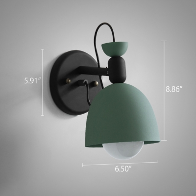 Industrial Wall Sconce with Bowl Shade in Nordical Style