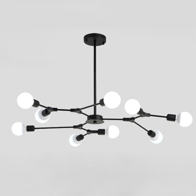 Industrial 9-Light Chandelier 41