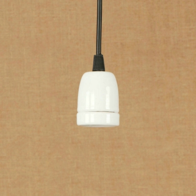 Baycheer / Industrial Simple Pendant Light in Bare Bulb Style, White