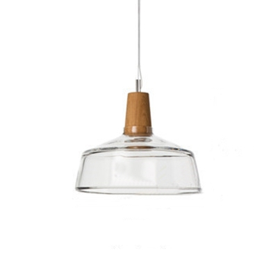 Industrial Single Light Pendant Light Wooden in Contemporary Style with Glass Shade Clear  sc 1 st  Beautifulhalo & Fashion Style Wood Pendant Lights Industrial Lighting ...