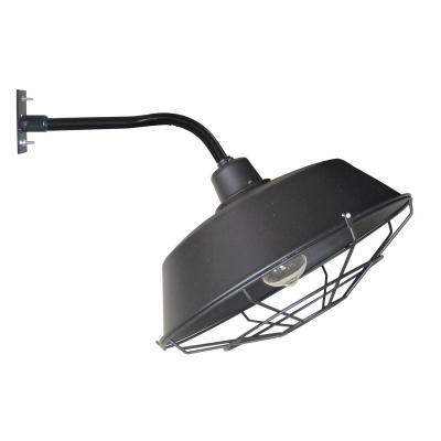 Industrial Wall Light with 14.17''W Warehouse Metal Shade in Barn Style