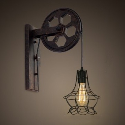 Industrial LED Wall Sconce With 9.06