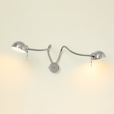 Industrial 2 Light Multi Light Wall Sconce With Extendable