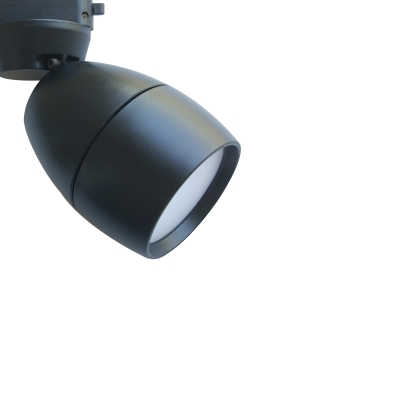 Industrial Mini Flushmount Ceiling Light Spotlight with Metal Shade, Black/White