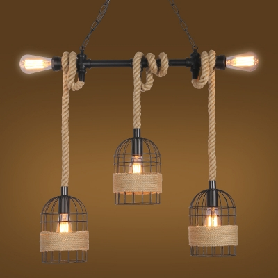 Light Pendant With Metal Cage