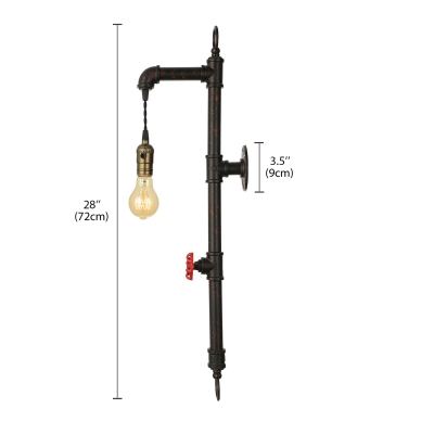 24'' H Pipe Hanging LED Wall Sconce