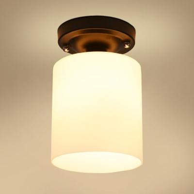 Industrial vintage 6w flushmount ceiling light with cylinder glass industrial vintage 6w flushmount ceiling light with cylinder glass shade in white aloadofball Images