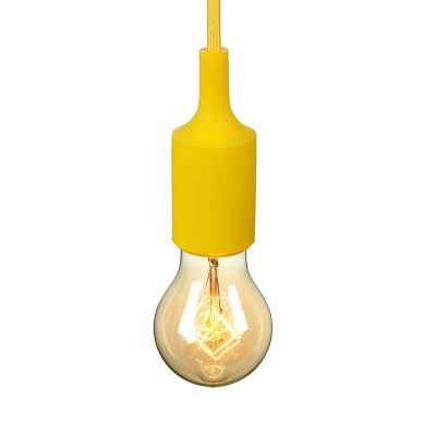 Industrial Silicone Multi Color Pendant Light Vintage Edison Bulb 1 Light Hanging Light