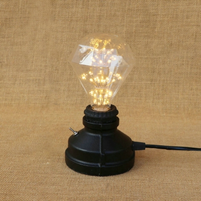 Industrai Simple Mini Desk Lamp in Open Bulb Style, Black