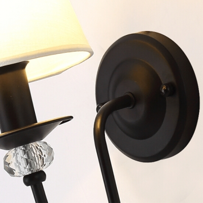 Elegant Traditional Wall Sconce with Scrolling Arms And Clear Crystal Globe