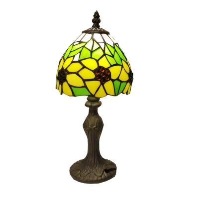 Sunflower Theme Tiffany Glass Lampshade Table Light, 6