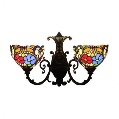 Tiffany Victorian Style Colorful Flower Design, 22