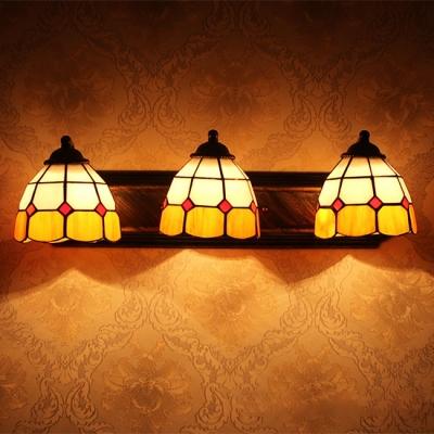 Tiffany Corridor Wall Sconce 3-Light 24