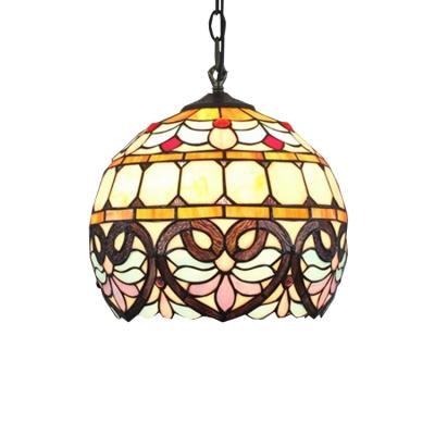 Baroque Globe Pendant Tiffany Style 12