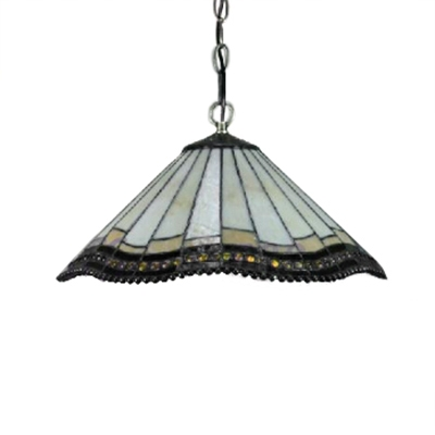 Tiffany Style Mission 2-Light Ceiling Fixture with 16