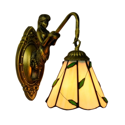 """10.2""""H*5.9""""W Petaloid Amber Wall Light With Leaves Style"""