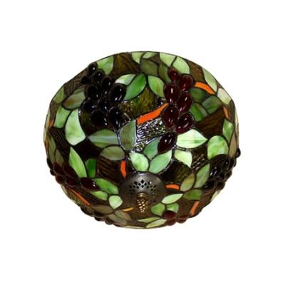 Fruit Theme Bowl Shaped Flush Mount Fixture with Tiffany Style 12