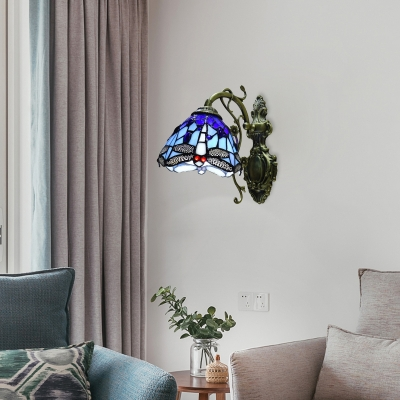 Blue Indoor Wall Light with 8