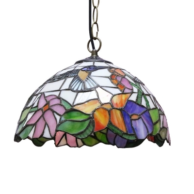 Hummingbirds Floral Ceiling Pendant Fixture with 12