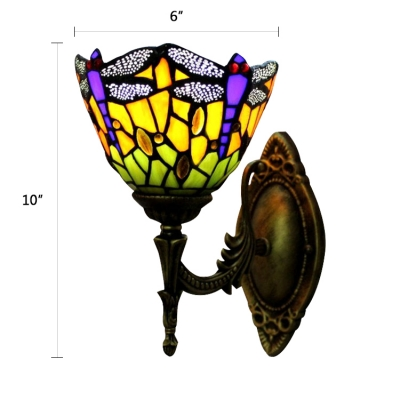 Tiffany Indoor Wall Sconce with 6