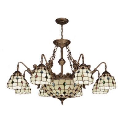 6 Light Belle Support Jewel Decor Chandelier with 12