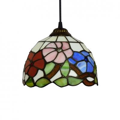Various Flower Pattern Tiffany Downward Ceiling Pendant 8