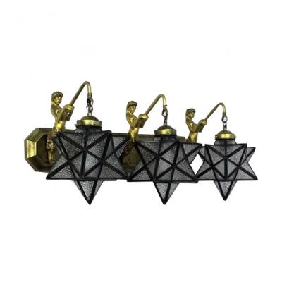 Tiffany Style Pentagram Shape Belle 3-Light 27