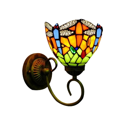 Dragonfly Pattern Shade Up Lighting Vintage Style 6