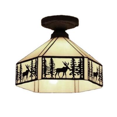 Vintage Flush Mount Ceiling Light for Loft with 11