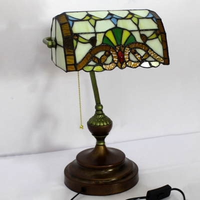 Vintage 10 w table lamp baroque bank lamp tiffany multi colored vintage 10 w table lamp baroque bank lamp tiffany multi colored glass shade single light aloadofball Image collections